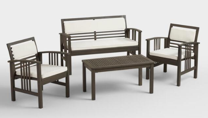 Cost Plus World Market: Belize 4-Piece Outdoor Furniture