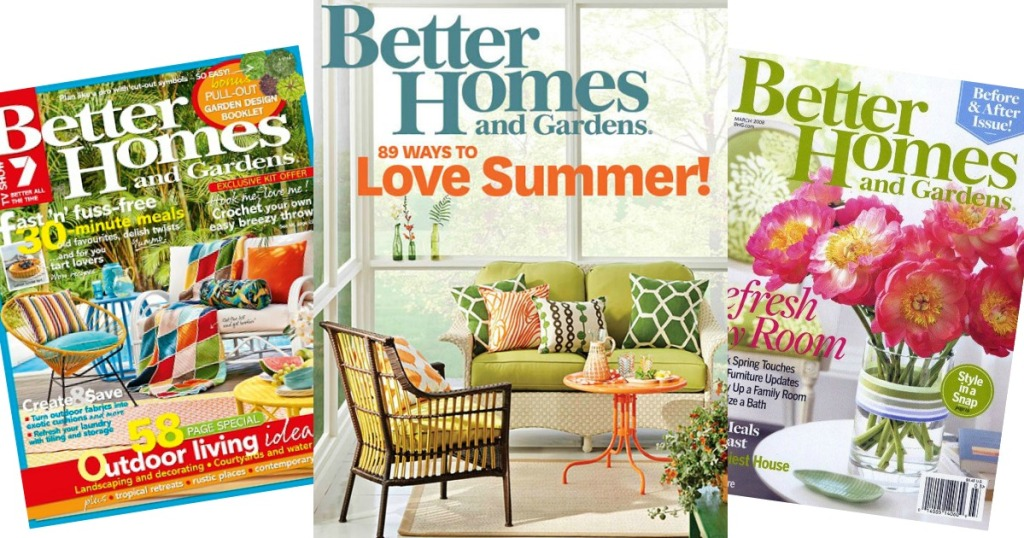 Free Better Homes And Gardens 1 Year Magazine Subscription Hip2save