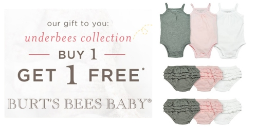 Burt's Bees Baby: Buy 1 Get 1 Free Sale = Bodysuits, Diaper Covers & Tees Only $2.49 Each
