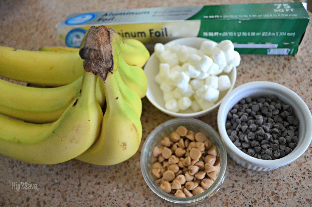 banana boat campfire dessert ingredients