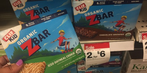 Target: Clif Kid Organic ZBars Only $1.85