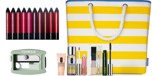Macy's: $110 Worth of Clinique Items Just $41 Shipped (How Cute is This Tote Bag?!)