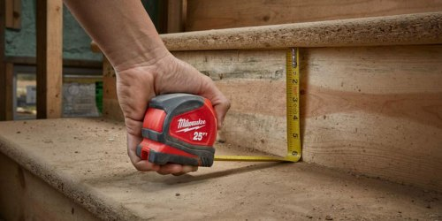 Home Depot: 2 Pack Milwaukee 25 Feet Compact Tape Measures Only $14.97 (Just $7.49 Each)