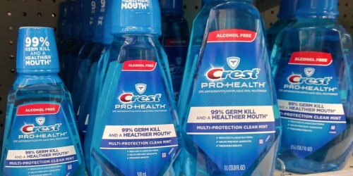 New $0.75/1 Crest Mouthwash Coupons = 44¢ Pro Health Mouthwash at CVS After Rewards
