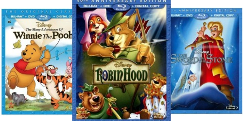 BestBuy: $8.99 Select Disney Blu-Rays (Robin Hood, Pete's Dragon & Winnie the Pooh) + More