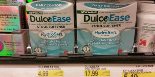 New $3/1 DulcoEase/Dulcolax Coupon = Better Than FREE at Target