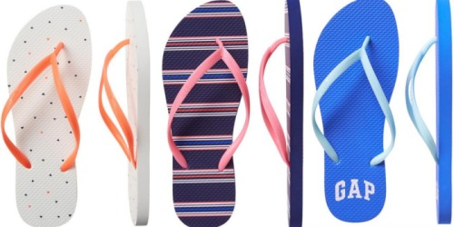 GAP Factory: Free Shipping on ANY Order = Flip Flops $2.99 Shipped (Regularly $8) & More