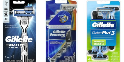 Amazon: Gillette CustomPlus 3 Disposable Razors 4-Count Only $2.52 Shipped + More