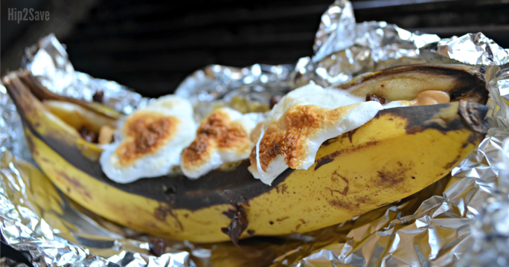 grilled banana boats campfire dessert