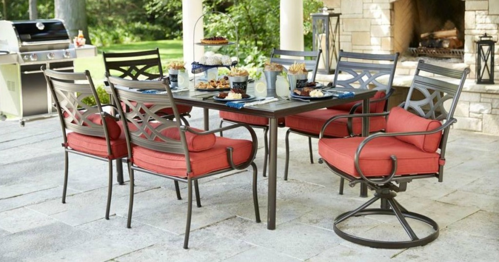 Home Depot Hampton Bay 7 Piece Patio Dining Set Only 399