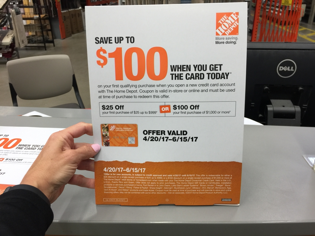 Consider the Home Depot Credit Card.