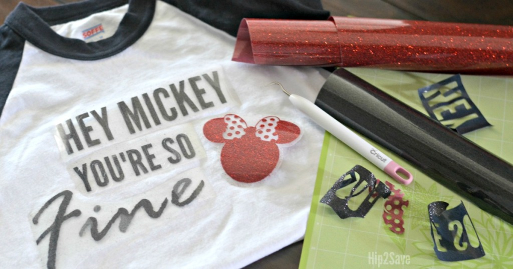 tee shirt with accessories to make iron ons next to it