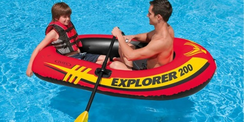 Intex Inflatable 2-Person Boat w/ Oars & Air Pump Only $11.63 (Reg. $39.99) + More