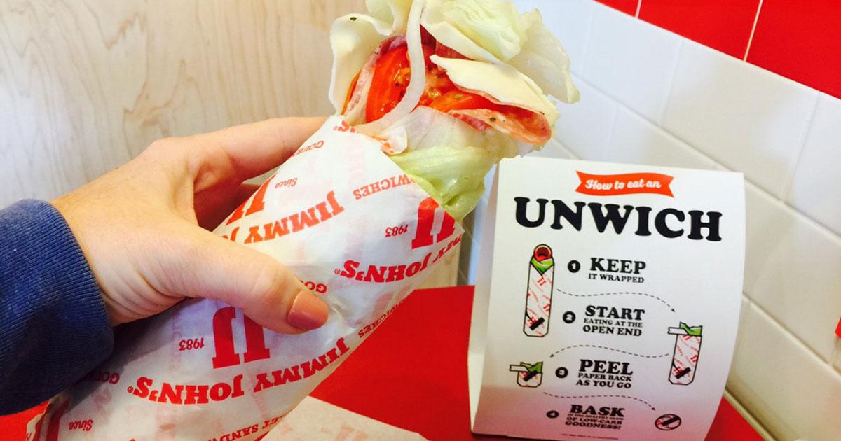 holding Jimmy John's unwich