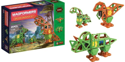 Kohl's Toy Clearance: Magformers 81 Piece Dinosaur Set Just $47.59 (Regularly $220) & More