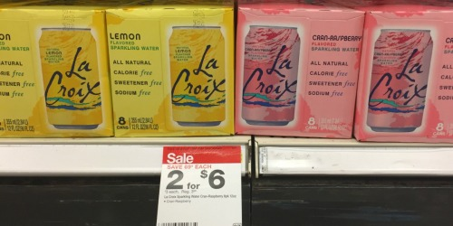 RARE $1/1 LaCroix Sparkling Water Coupon = 8 Pack Only $2 at Target!