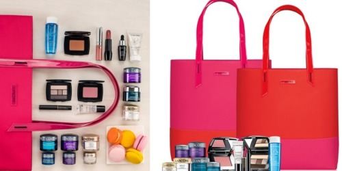 Macy's.com: FREE 6-Piece Gift Set with ANY $35+ Lancôme Purchase (Includes a Free Tote Bag!)