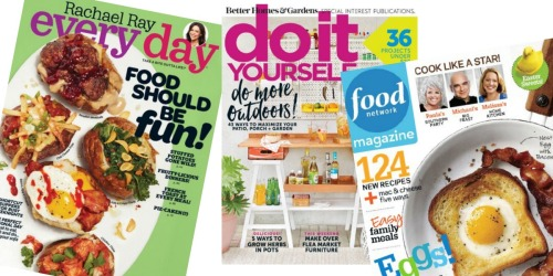 Memorial Day Magazine Sale: Save on Rachael Ray Every Day, Do It Yourself, Food Network & More