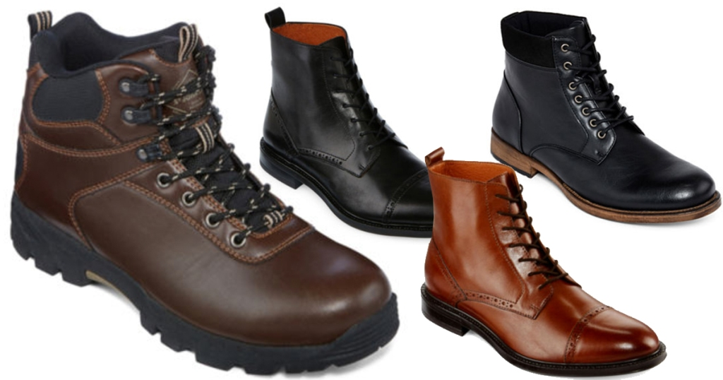 27acd683511 JCPenney: Stafford Men's Leather Boots Only $27.99 (Regularly $120 ...