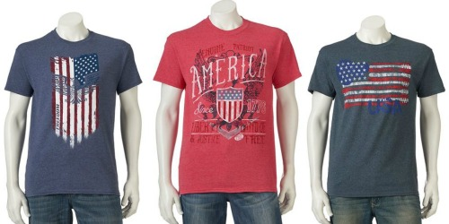 Kohl's.com: Men's Patriotic T-Shirts Only $2.55 Each (When You Buy Five)