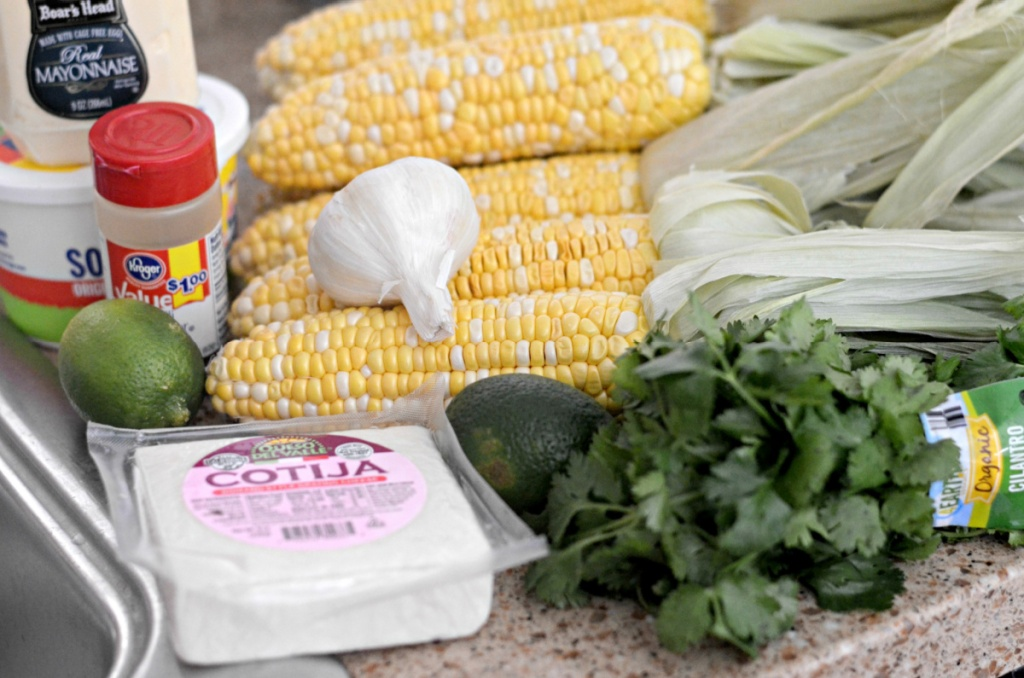 mexican corn ingredients in the counter