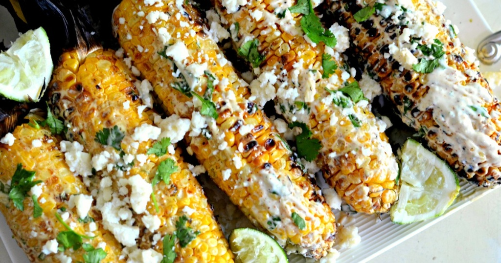 mexican street corn with lime