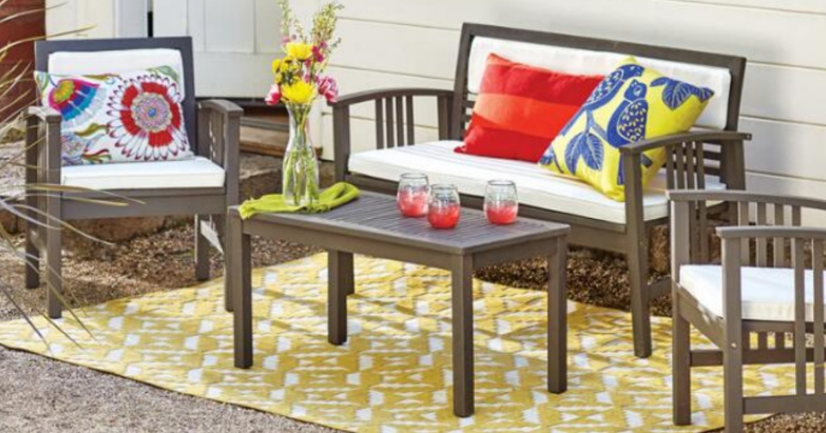 Cost Plus World Market Belize 4 Piece Outdoor Furniture Set Only