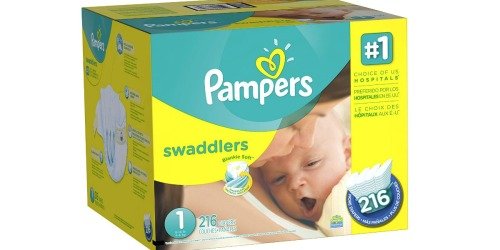 Amazon Family: Pampers Size 1 Diapers 216 Count Box Only $25.99 Shipped (Just 12¢ Per Diaper)
