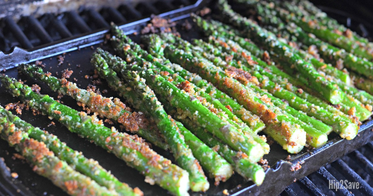 roasted parmesan asparagus on the grill
