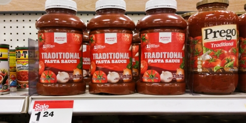 Target: Market Pantry Pasta Sauce Huge 45oz Jars Only $1.18 (Regularly $2.87) – No Coupons Needed