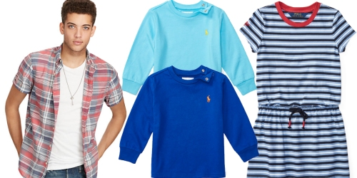 Ralph Lauren: Extra 30% Off Select Styles = Baby Polo Tees Only $6.29 (Regularly $18) & More