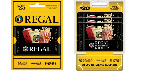 $25 Regal Gift Card Only $20.44 Shipped & More