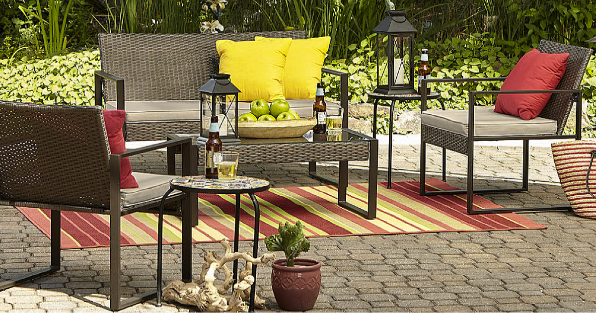 sears com 4 piece patio furniture set only 170 99 shipped reg rh hip2save com sears patio furniture sets clearance