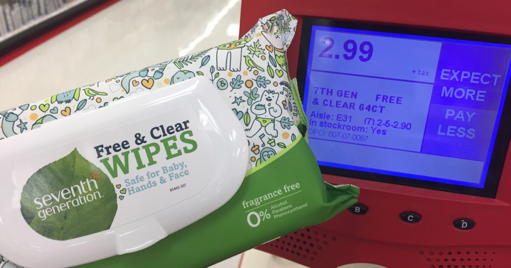 Target: 2 FREE Packs of Seventh Generation Baby Wipes After Ibotta