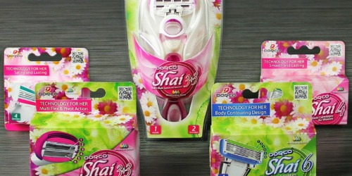 Dorco Shai Razor Trial Pack Only $16.08 Shipped (Includes 1 Handle + 18 Cartridges) & More