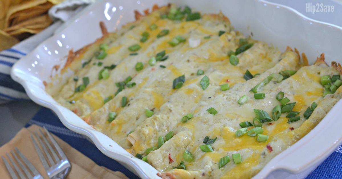 White Chicken Enchiladas With Sour Cream Sauce Hip2save