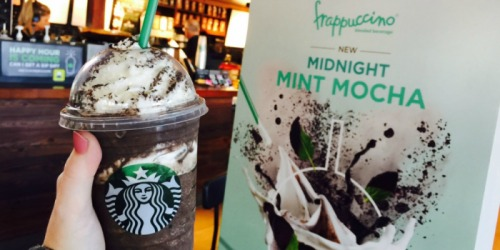 Starbucks Midnight Mint Mocha Frappuccino Now Available (Get 50% Off Starting May 5th)