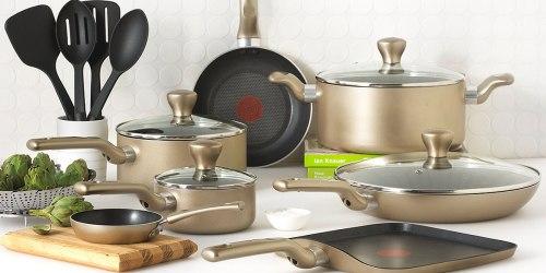 Macys.com: T-Fal 16-Piece Cookware Set Just $79.99 Shipped + Earn $15 Macy's Cash