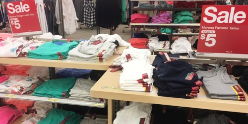 Target Shoppers! Women's Merona Tees & Tanks ONLY $5 (In-Store AND Online)