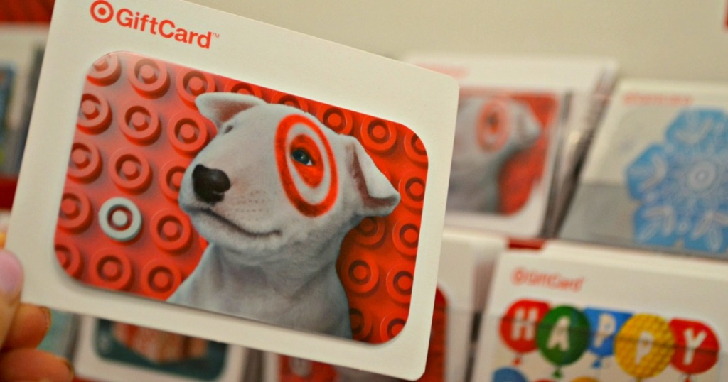 holding Target gift card