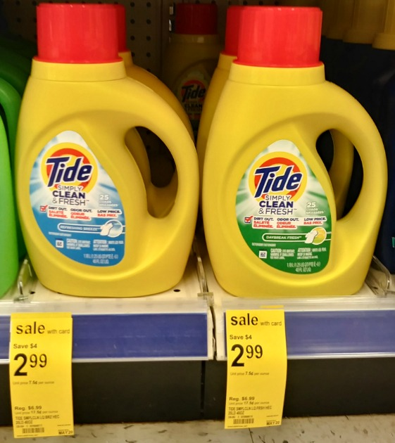 photo about Tide Simply Clean Printable Coupons titled Walgreens: Tide Effortlessly Fresh Just $1.99 (Consistently $6.99
