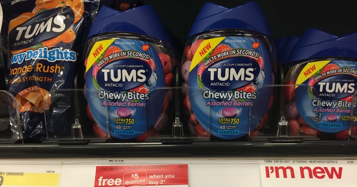 image about Tums Coupon Printable named Significant Expense $1.50/1 Tums Discount codes \u003d Chewy Bites Higher than 50% Off