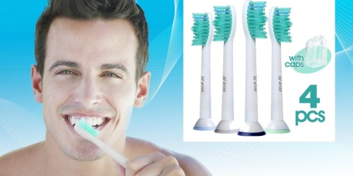 Amazon: 4 Pack Replacement Toothbrush Heads For Philips Sonicare Brushes Only $7.91