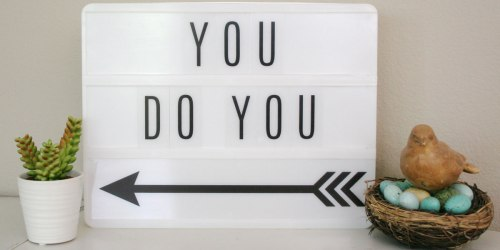 Try This Tuesday: Lightbox Messages For Your Home Or Office ~ SO FUN!
