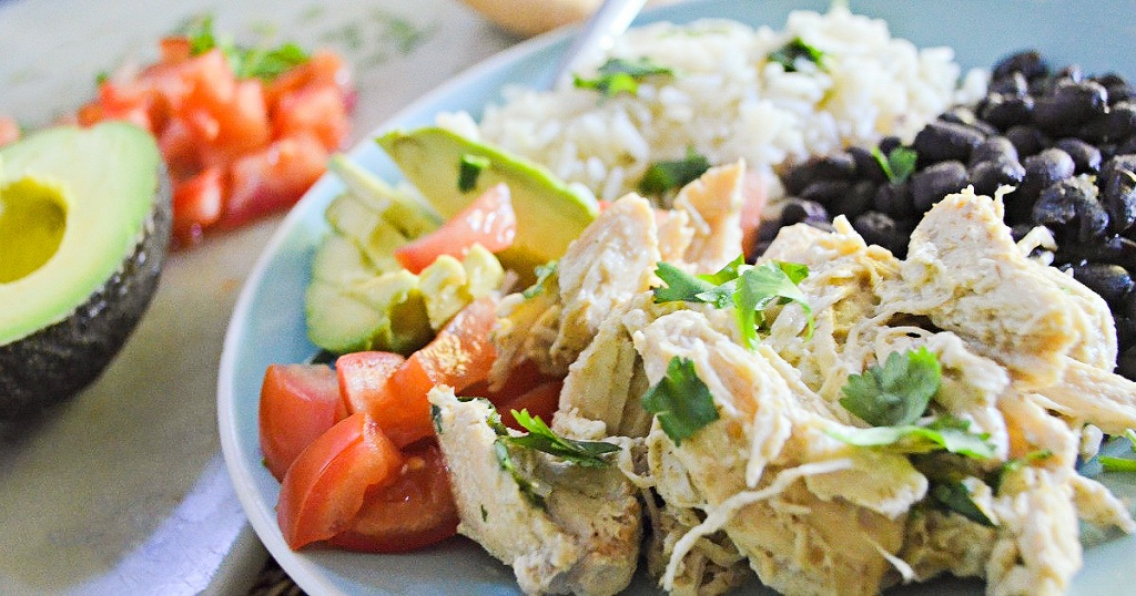 slow cooker chicken on a plate