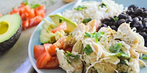 3 Ingredient Slow Cooker Meal Idea (Salsa Verde Chicken)