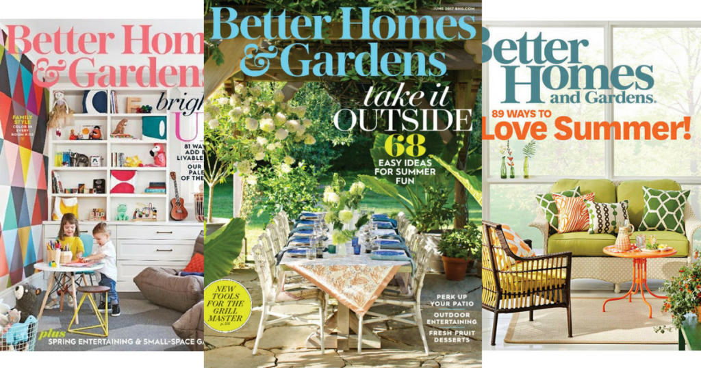 Free 1 Year Subscription To Better Homes Gardens Magazine Hip2save