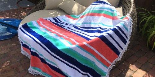 Walmart: HUGE Round Beach Towels Just $19.77