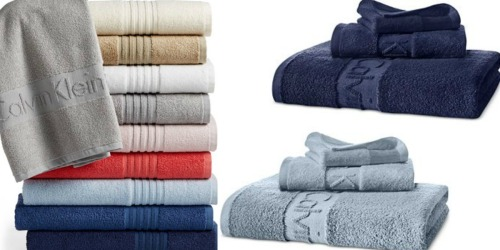 Macys.com: Calvin Klein Iconic Bath Towels Starting at $5.64 Each (Regularly $30)