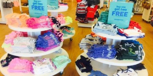 Carters & OshKosh: FREE Shipping + Buy 1 & Get 2 Free Bodysuits, Tees, Shorts & More